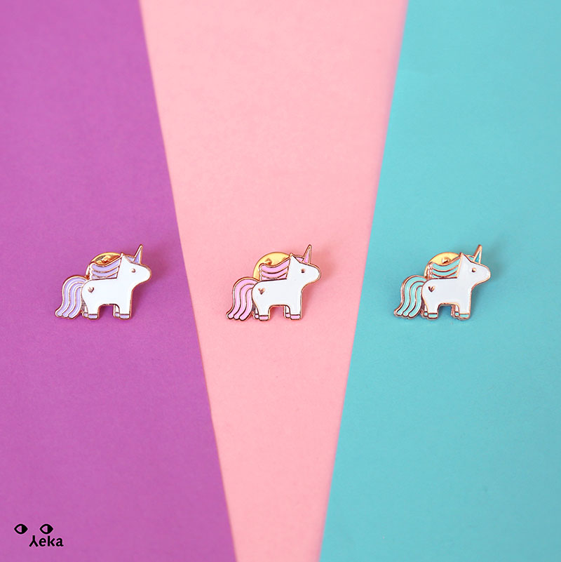 Rose Gold Unicorn Pin
